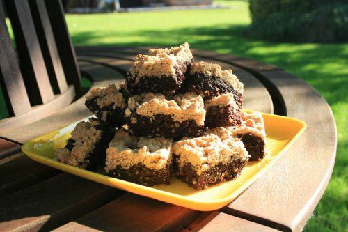 Keks-Brownie-gestapelt